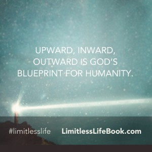 <p>Upward, Inward, Outward is God's blueprint for humanity.</p>