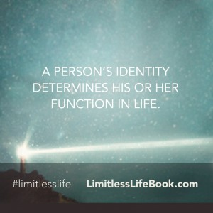 <p>A person's identity determines his or her function in life.</p>