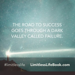 <p>The road to success goes through a dark valley called failure.</p>